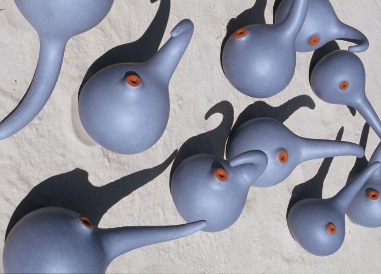 autogaam, kermaik van Lot Brandt, uit de collectie Zaad
